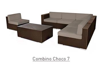 Ratanový zahradní nábytek sedací variabilní sestava Combino Choco 7