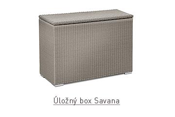 Ratanový zahradní nábytek Úložný box savana