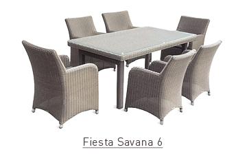 Ratanový zahradní nábytek jídelní sestava Fiesta savana 6