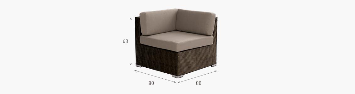 Ratanový zahradní nábytek variabilní sedací soupravy rohové křeslo combino nero rozměry