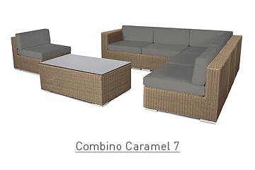 Ratanový zahradní nábytek Combino caramel 7