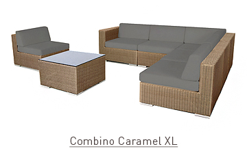 Ratanový zahradní nábytek sedací sestava Combino caramel 7 XL