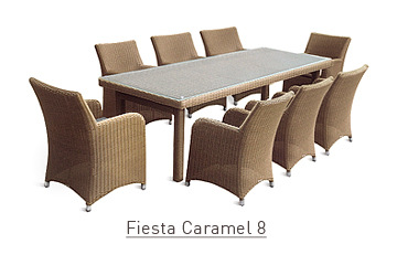 Ratanový zahradní nábytek Fiesta caramel 8