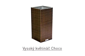 Ratanový zahradní nábytek rovný vysoký květináč Choco