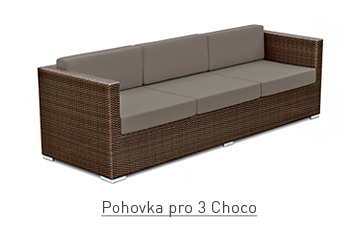 Pohovka pro 3 choco