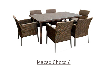 Ratanový zahradní nábytek Macao choco 6