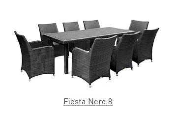 Ratanový zahradní nábytek jídelní set Fiesta Nero 8