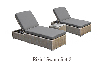 Ratanový zahradní nábytek lehátka Bikini savana set 2