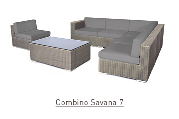 Ratanový zahradní nábytek sedací variabilní sestava Combino savana 7