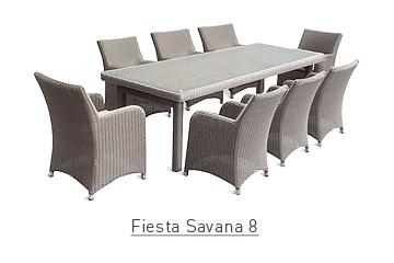 Ratanový zahradní nábytek jídelní sestava Fiesta savana 8